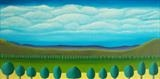 A Line Of Trees by Ray Hill, Painting, Acrylic on canvas