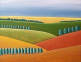 Fields Of Colour by Ray Hill, Painting, Acrylic on canvas