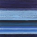 Misty Blue by Ray Hill, Painting, Acrylic on canvas