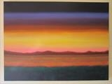 Summer Sunset 2015 by Ray Hill, Painting, Acrylic on canvas