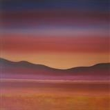 Sunset Over Purple Hills by Ray Hill, Painting, Acrylic on canvas