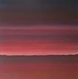 Winter Sunset by Ray Hill, Painting, Acrylic on canvas